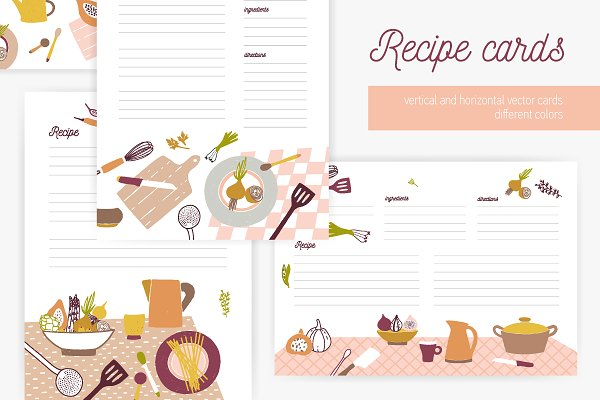 Templates: Good_Studio - Recipe cards set