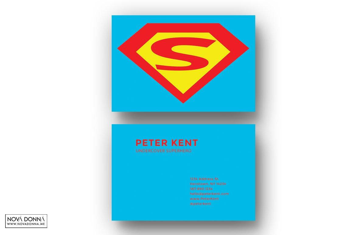 Superhero Business Card Templates ~ Business Card Templates ...