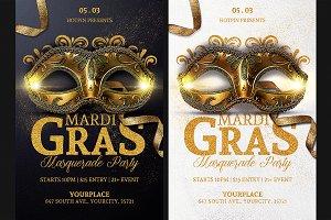 Masquerade Mardi Gras Flyer