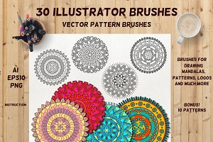 30 Vector Pattern Brushes