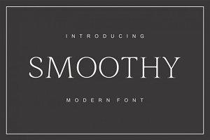 Smoothy - modern sans serif font