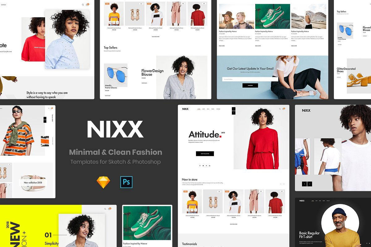 NIXX – Minimal & Clean Fashion in Website Templates - product preview 8