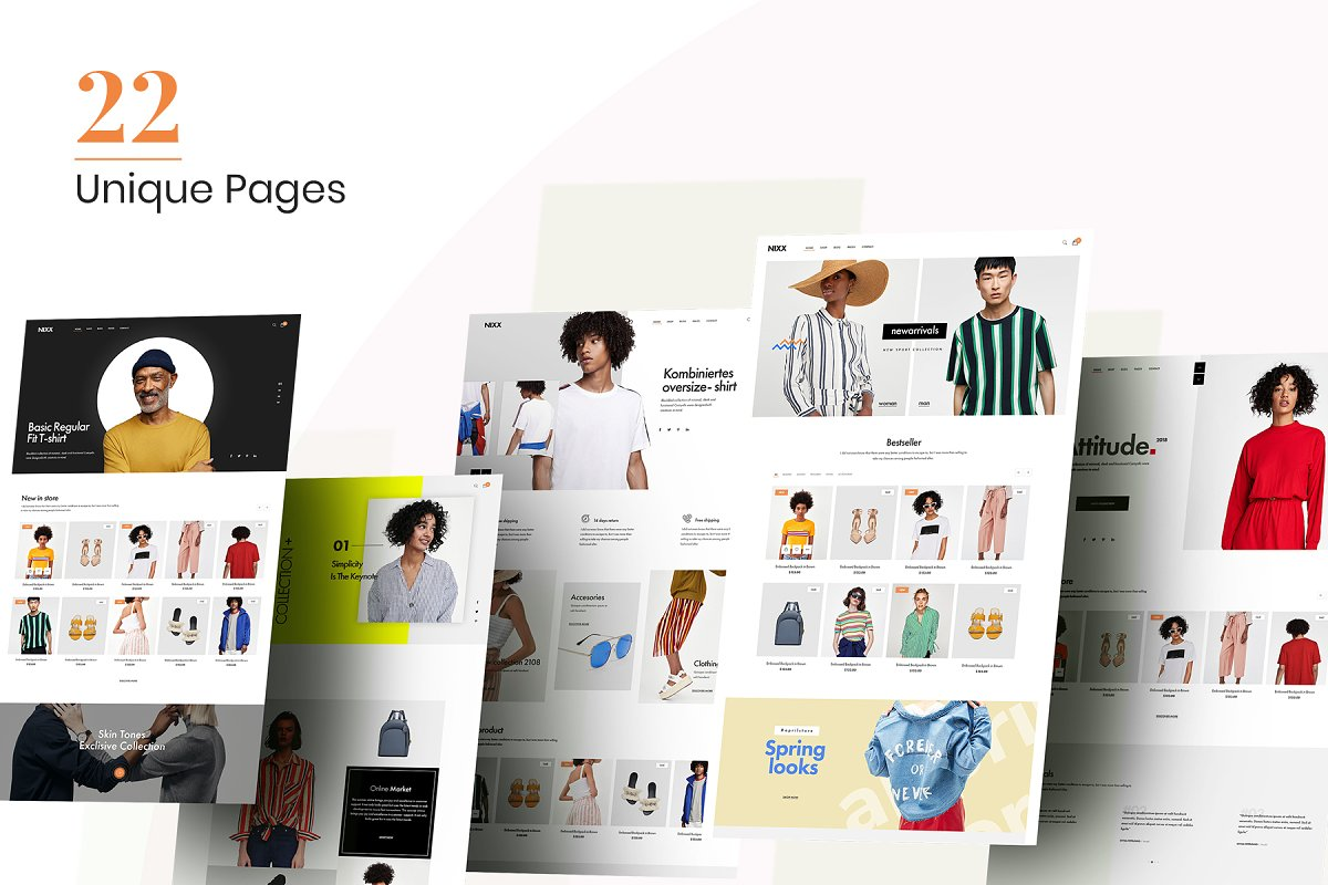 NIXX – Minimal & Clean Fashion in Website Templates - product preview 1