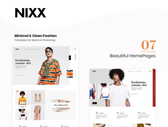 NIXX – Minimal & Clean Fashion in Website Templates - product preview 2