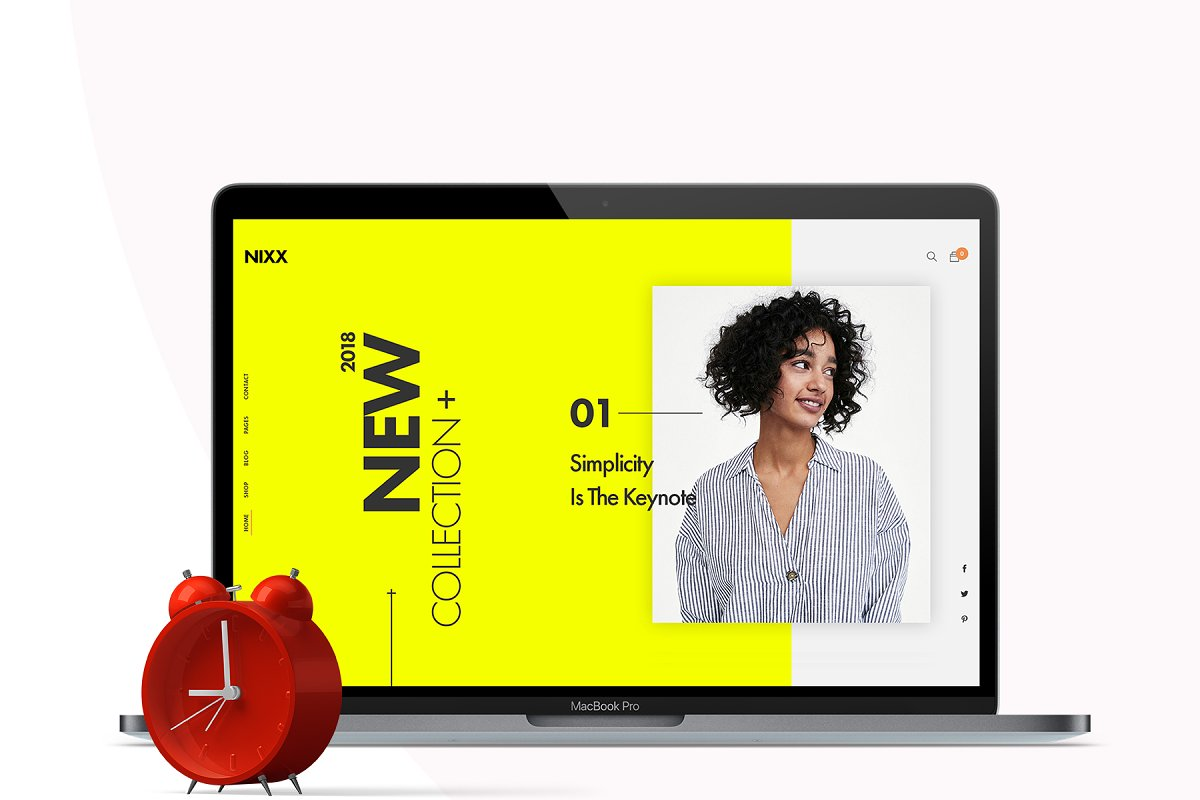 NIXX – Minimal & Clean Fashion in Website Templates - product preview 3