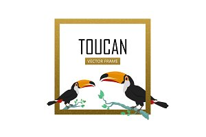 Toucan Bird Flat Design Vector