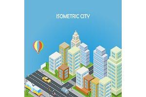 Isometric City Background
