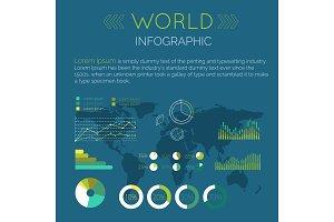 Word Infographic Flat Design Vector