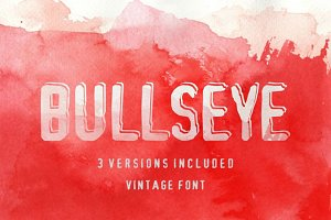 Bullseye shadowed font in 3 versions