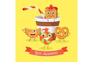 Bon Appetit. Funny Cartoon