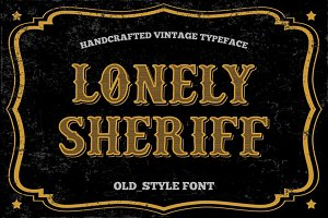 Old Style font - vintage typeface