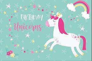 Birthday unicorns