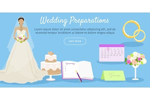 Wedding Preparations Web Banner
