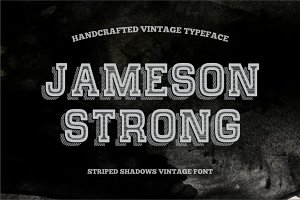 Striped Shadow Vintage Typeface