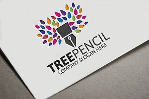 Tree Pencil Logo