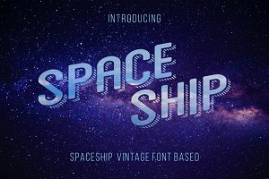 Space Ship font