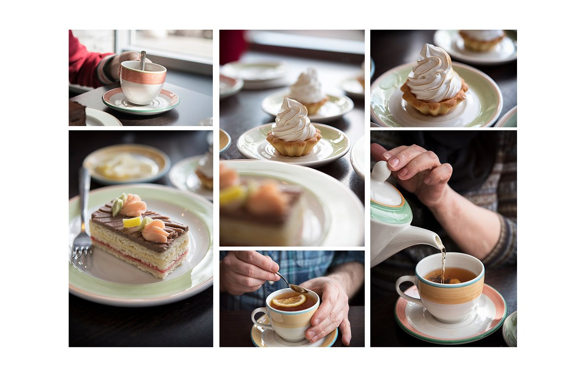 Tea & Cakes - Stock Photos in Social Media Templates - product preview 8