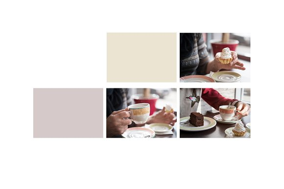 Tea & Cakes - Stock Photos in Social Media Templates - product preview 1