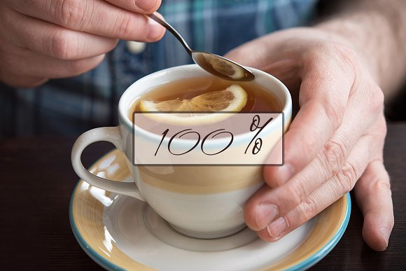 Tea & Cakes - Stock Photos in Social Media Templates - product preview 2