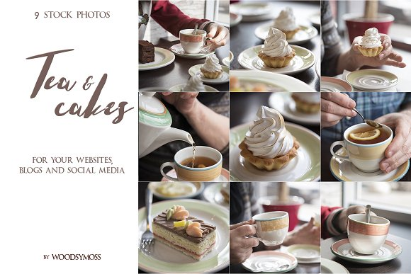 Tea & Cakes - Stock Photos in Social Media Templates - product preview 3