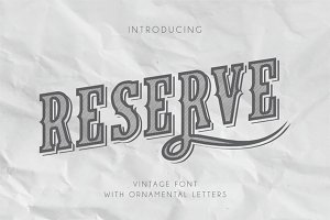Reserve Vintage Font With Ornaments