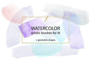 Watercolor Brushes Vector for Ai