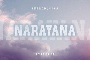 Narayana - Display typeface font