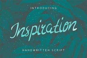 Inspiration handwritten script font