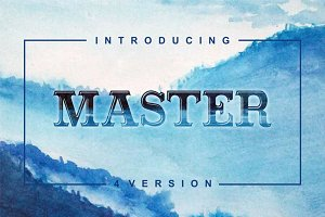 Masterpiece serif font in 4 versions