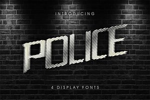 PoliceLineDoNotCross 4 display fonts