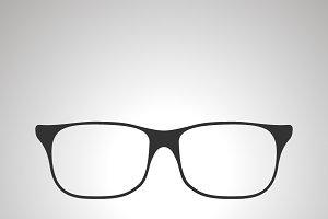 Rim glasses icon