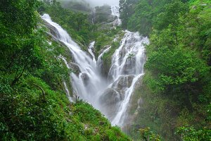 Pi Tu Gro waterfall in rain forest