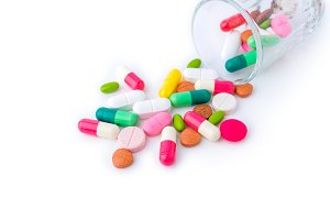 various of Tablets mix heap drugs