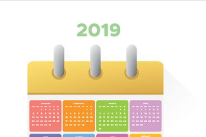 Vector Calendar 2019.