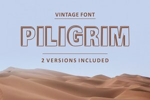 Piligrimistic Font 2 versions