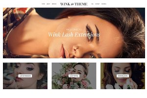 Wink - Lash Stylist Divi Child Theme
