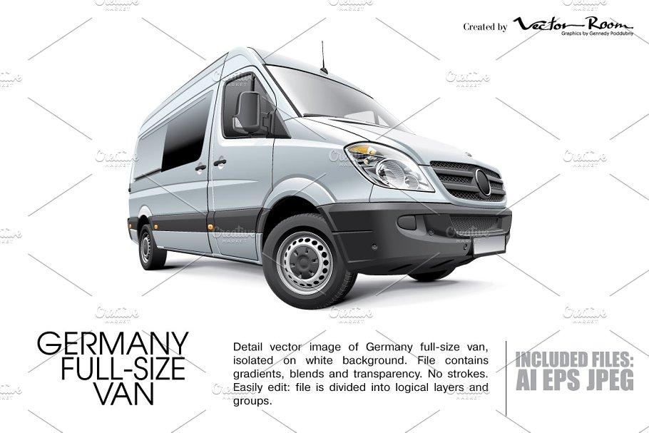 05e4a1f5d7 Germany Full-size Van ~ Icons ~ Creative Market