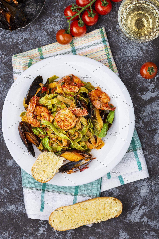 Homemade Italian Seafood Pasta