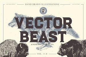VECTOR BEAST HAND DRAWN BUNDLE 11.0