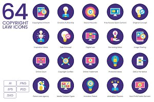 64 Copyright Law Icons | Orchid