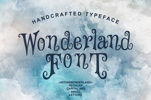 Wonderland - handcrafted typeface