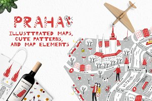 Praha: illustrated map