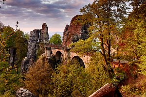 Bastei bridge in saxony