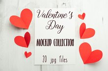 Valentine day mockup collection