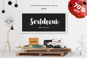 Sortdecai Font Family & Bonus 70%OFF