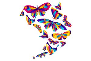 Background design with butterflies.
