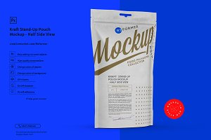 White Paper Stand-Up Pouch Mockup