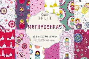 Matryoshkas Digital Paper