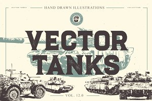 VECTOR TANKS HAND DRAWN BUNDLE 12.0