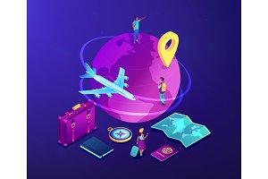 Global travelling isometric 3D
